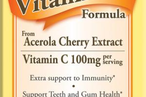 CHILDREN'S VITAMIN C FORMULA DIETARY SUPPLEMENT CHEWABLE TABLETS ACEROLA CHERRY EXTRACT