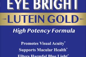 BILBERRY EYE BRIGHT LUTEIN GOLD HIGH POTENCY FORMULA DIETARY SUPPLEMENT VEGETARIAN CAPSULES
