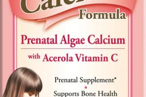 PRENATAL ALGAE CALCIUM WITH ACEROLA VITAMIN C DIETARY SUPPLEMENT VEGETARIAN TABLETS