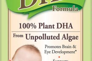 100% PLANT DHA FROM UNPOLLUTED ALGAE VEGETARIAN DHA FORMULA DIETARY SUPPLEMENT