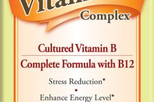 VITAMIN B COMPLEX CULTURED VITAMIN B COMPLETE FORMULA WITH B12 VEGETARIAN CAPSULES DIETARY SUPPLEMENT