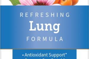 REFRESHING LUNG FORMULA ANTIOXIDANT SUPPORT COMFORTABLE BREATHING DIETARY SUPPLEMENT VEGETARIAN CAPSULES