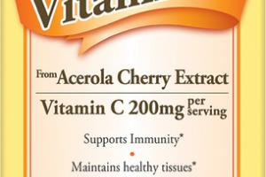 VITAMIN C FROM ACEROLA CHEERY EXTRACT DIETARY SUPPLEMENT CHEWABLE TABLETS