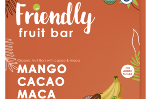 MANGO, CACAO, MACA, BANANA ORGANIC FRUIT BARS WITH CACAO & MACA