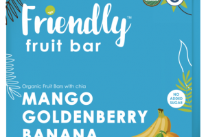 MANGO, GOLDENBERRY, BANANA, CHIA ORGANIC FRUIT BARS
