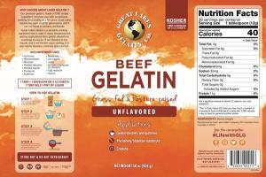 UNFLAVORED BEEF GELATIN
