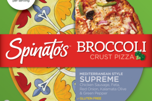 MEDITERRANEAN STYLE SUPREME BROCCOLI CRUST PIZZA