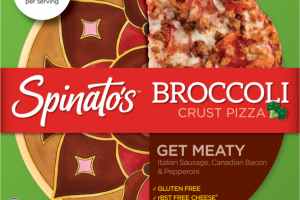GET MEATY ITALIAN SAUSAGE, CANADIAN BACON & PEPPERONI BROCCOLI CRUST PIZZA