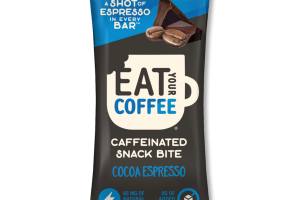 COCOA ESPRESSO CAFFEINATED SNACK BITE BAR