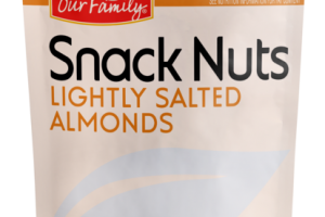LIGHTLY SALTED ALMONDS SNACK NUTS
