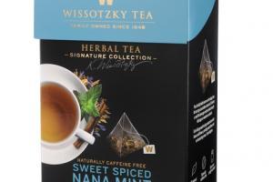 SWEET SPICED NANA MINT NATURALLY CAFFEINE FREE HERBAL TEA BAGS