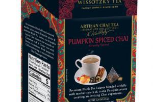 PUMPKIN SPICED CHAI FLAVORED TEA BAGS