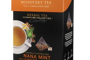 NANA MINT WITH GINGER AND LEMON CAFFEINE FREE SILKY PYRAMID TEA BAGS