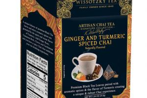 ARTISAN GINGER AND TURMERIC SPICED CHAI FLAVORED SILKY TEA BAGS