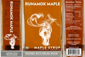 VERMONT ORGANIC MAPLE SYRUP SMOKED WITH PECAN WOOD