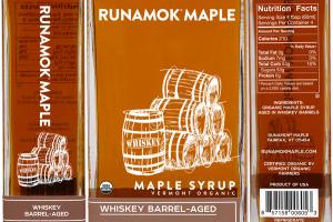 WHISKEY BARREL-AGED MAPLE SYRUP VERMONT ORGANIC