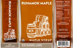 RUM BARREL-AGED VERMONT ORGANIC MAPLE SYRUP