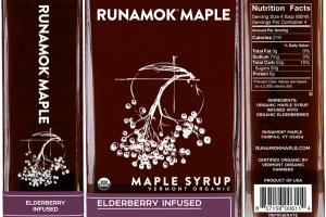 ELDERBERRY INFUSED VERMONT ORGANIC MAPLE SYRUP