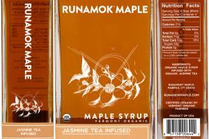 JASMINE TEA INFUSED VERMONT ORGANIC MAPLE SYRUP