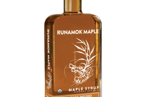 GINGER ROOT INFUSED VERMONT ORGANIC MAPLE SYRUP