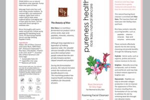 FOAMING FACIAL CLEANSER ROSE GERANIUM & CLARY SAGE