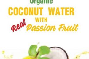 ORGANIC COCONUT WATER WITH REAL PASSION FRUIT