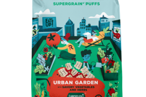 URBAN GARDEN WITH SAVORY VEGETABLES AND HERBS SUPERGRAIN PUFFS