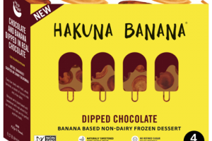 DIPPED CHOCOLATE BANANA BASED NON-DAIRY FROZEN DESSERT