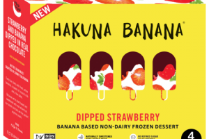 DIPPED STRAWBERRY BANANA BASED NON-DAIRY FROZEN DESSERT