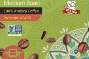 MEDIUM ROAST ROASTED COFFEE WITH PROBIOTICS 100% ARABICA DRIP COFFEE