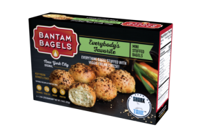 EVERYBODY'S FAVORITE EVERYTHING BAGEL STUFFED WITH VEGGIE CREAM CHEESE! MINI STUFFED BAGELS