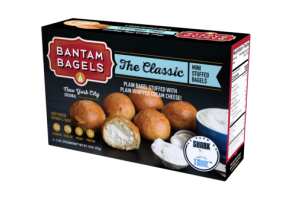 THE CLASSIC MINI PLAIN BAGEL STUFFED WITH PLAIN WHIPPED CREAM CHEESE!