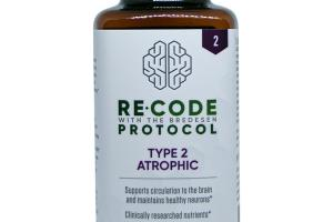 RECODE WITH THE BREDESEN PROTOCOL TYPE 2 ATROPHIC SUPPORTS CIRCULATION TO THE BRAIN AND MAINTAINS HEALTHY NEURONS* DIETARY SUPPLEMENT VEGETARIAN CAPSULES