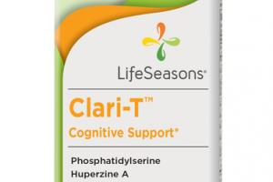 CLARI-T COGNITIVE SUPPORT DIETARY SUPPLEMENT VEGETARIAN CAPSULES