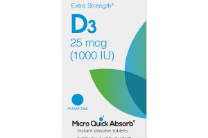 EXTRA STRENGTH* D3 25 MCG (1000 IU) MICRO QUICK ABSORB INSTANT DISSOLVE DIETARY SUPPLEMENT TABLETS