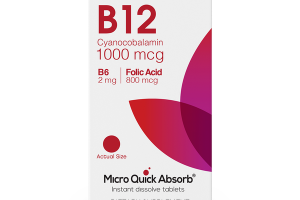 B12 CYANOCOBALAMIN 1000 MCG B6 2 MG DIETARY SUPPLEMENT INSTANT DISSOLVE TABLETS