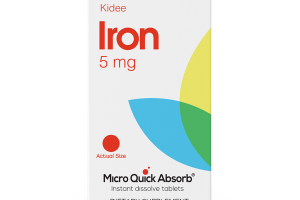 MICRO QUICK ABSORB® KIDEE IRON 5 MG DIETARY SUPPLEMENT INSTANT DISSOLVE TABLETS