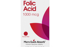 FOLIC ACID 1000 MCG MICRO QUICK ABSORB DIETARY SUPPLEMENT TABLETS