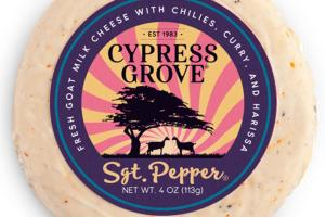 SGT. PEPPER WITH CHILI, CURRY, AND HARISSA FRESH GOAT MILK CHEESE