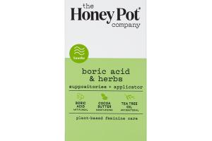 BORIC ACID & HERBS SUPPOSITORIES + APPLICATOR