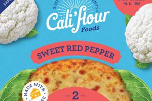 SWEET RED PEPPER CAULIFLOWER PIZZA CRUSTS