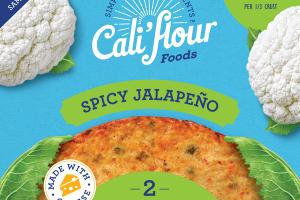 SPICY JALAPENO 2 CAULIFLOWER PIZZA CRUSTS