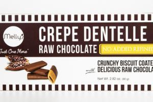 RAW CHOCOLATE CREPE DENTELLE