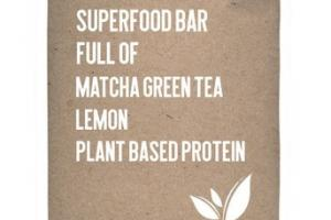 LEMON MATCHA GREEN TEA PLANT BASED PROTEIN SUPERFOOD BAR