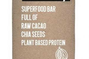 FULL OF RAW CACAO CHIA SEEDS PLANT BASED PROTEIN SUPERFOOD BAR
