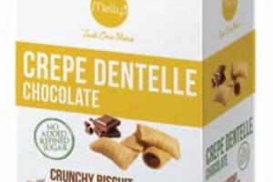 CREPE DENTELLE CRUNCHY BISCUIT WITH CHOCOLATE FILLING!