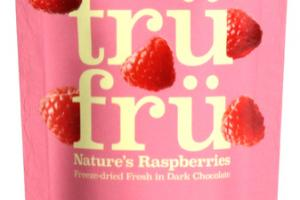 DARK CHOCOLATE 54% CACAO NATURE'S RASPBERRIES FREEZE-DRIED FRESH IN DARK CHOCOLATE