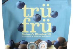DARK CHOCOLATE NATURE'S BLUEBERRIES FROZEN FRESH IN WHITE & DARK CHOCOLATE