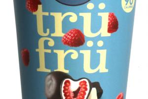 DARK CHOCOLATE NATURE'S RASPBERRIES FROZEN FRESH IN WHITE & DARK CHOCOLATE