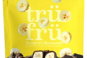 DARK CHOCOLATE 54% CACAO NATURE'S BANANAS HYPER-DRIED FRESH IN DARK CHOCOLATE
